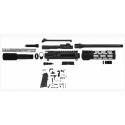 AR-9 9MM 5.5 LRBHO SLICK SIDE PISTOL UPPER FAKE SUPPRESSOR BCG & CH